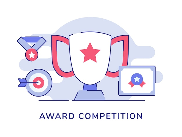 Alvo de medalha de troféu de conceito de competição