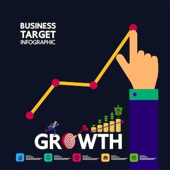 Alvo de negócios e sucesso e foco no objetivo