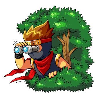 Alvo de perseguição do menino de ninja.