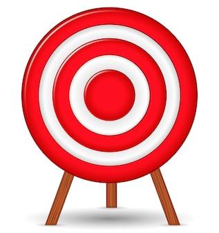 Alvo vermelho, ilustração Vetor Premium