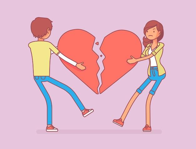 Amantes coração partido
