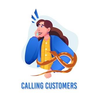 Amantes de animais e répteis chamando clientes com telefone inteligente