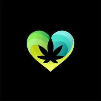 Amantes de cânhamo com conceito de cannabis