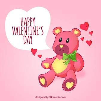 Amar ursinho de pelúcia deseja-lhe um feliz dia dos namorados