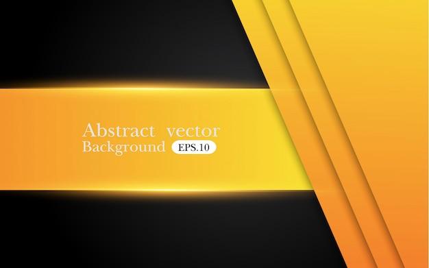 Amarelo alaranjado e preto fundo abstrato do negócio. desenho vetorial.