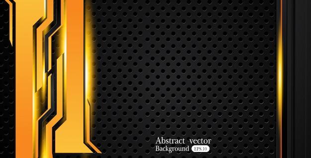 Amarelo alaranjado e preto fundo abstrato do negócio