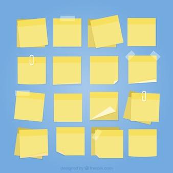 Amarelo coleta de post-it