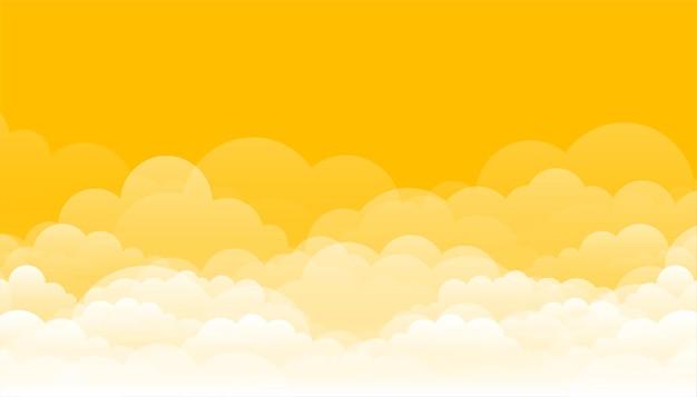 Amarelo com design de nuvens