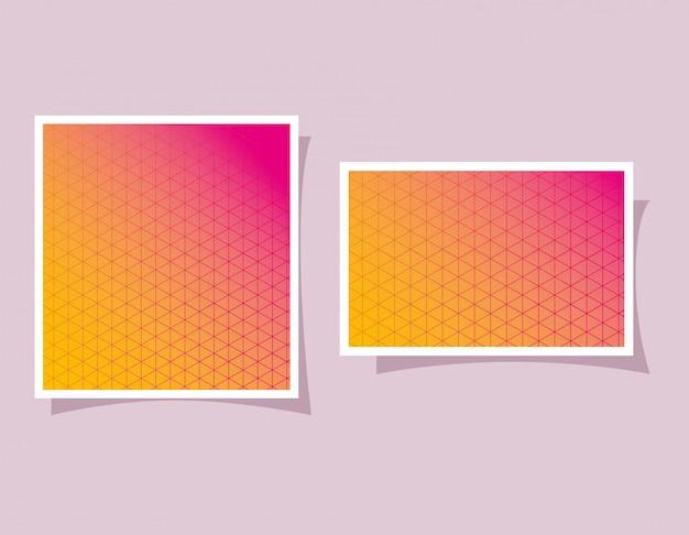 Amarelo com gradiente e padrão rosa