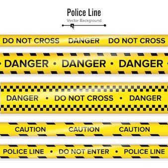 Amarelo com linha de polícia preta.