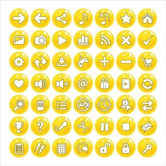 Amarelo da cor da geleia do estilo do gui do botão.