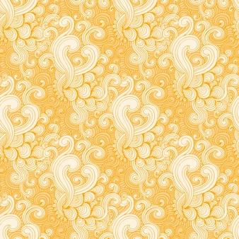 Amarelo e branco padrão de redemoinho