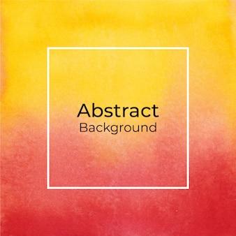Amarelo e vermelho abstrato aquarela