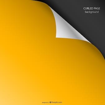 Amarelo enrolado gráfico página vetor