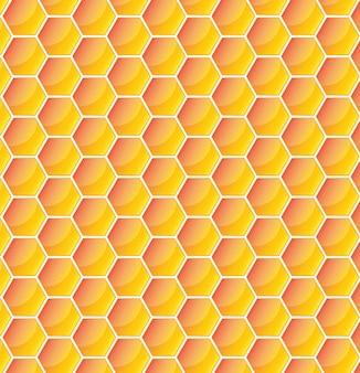 Amarelo padrão com favo de mel. ilustração