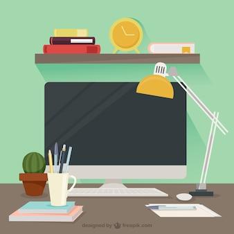 Ambiente de trabalho agradável desenhador