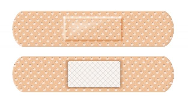 Ambos os lados da cinta de band-aid