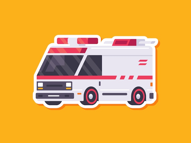 Ambulância de etiqueta de carro bonito