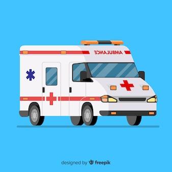 Ambulância em estilo flat