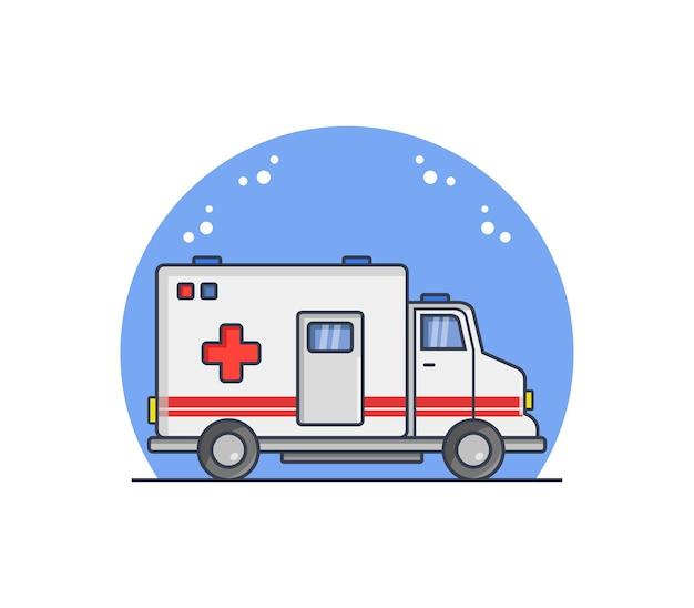 Ambulância ilustrada