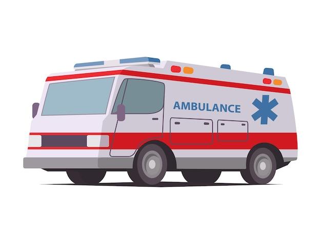 Ambulância van primeiros socorros automóvel de emergência veículo para remédios
