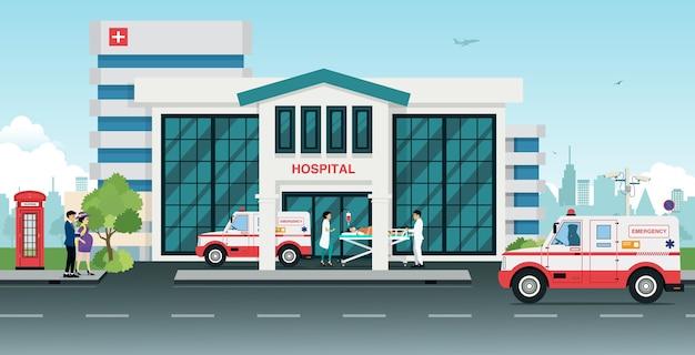 Ambulâncias levaram os feridos para o hospital.
