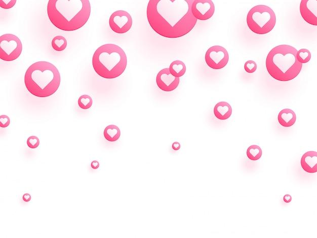 Ame o fundo decorado com bolhas cor-de-rosa do coração.
