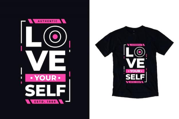 Ame-se citações modernas da tipografia camiseta