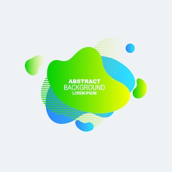 Ameba plana colorida etiqueta e fundo vector para banner