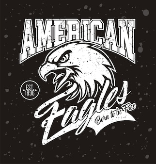 American eagle head logo para t-shirt
