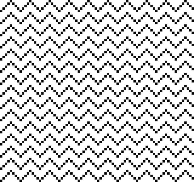 American ethnic seamless montanhas e ziguezague com padrão de linhas quadradas curvas repetidas