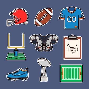 -americano de design elementos de futebol