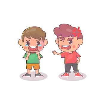 Amigos com raiva de crianças