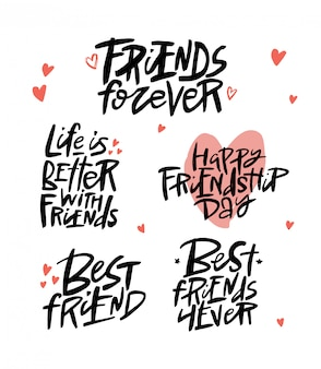 Amigos para sempre escova letras