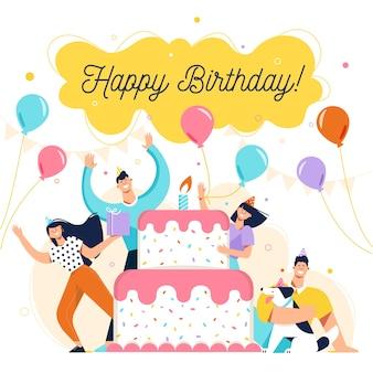 Amigos, tendo a melhor festa de aniversário juntos
