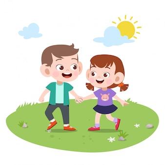 Amizade crianças