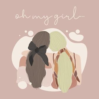 Amizade de menina para sempre