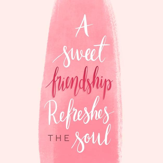 Amizade, dizendo