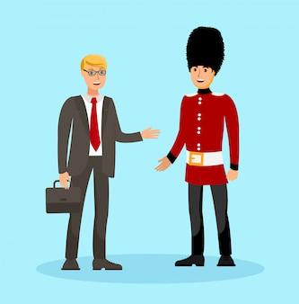 Amizade internacional, ilustração de turismo