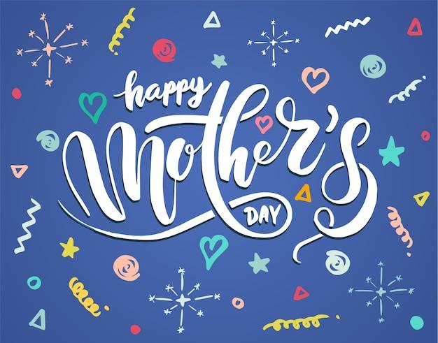 Amo a mãe para o cartão de dia das mães.
