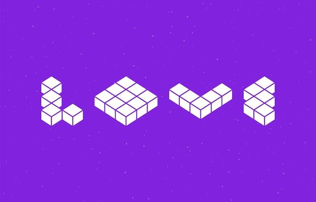Amo a tipografia com design de fonte de forma geométrica.