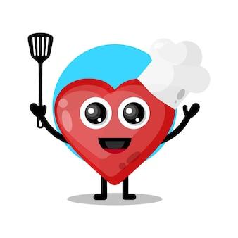Amo chef personagem fofo mascote