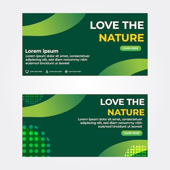 Amo o modelo de banner da natureza banner de promoção
