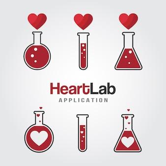Amo o modelo de logotipo de laboratório