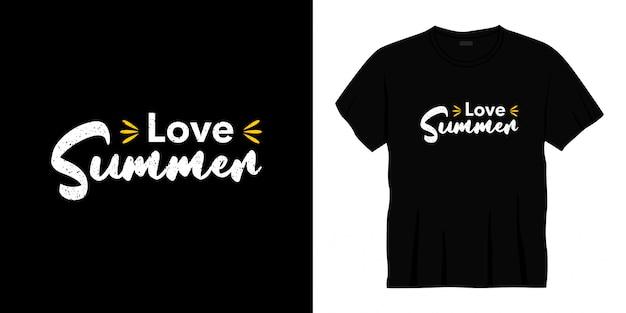 Amo o verão tipografia t-shirt design