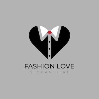 Amo o vetor de design de modelo de logotipo de moda