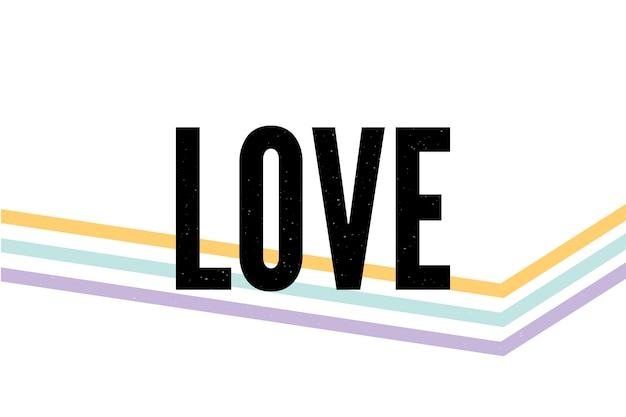 Amo slogan tipografia desenho moderno moda slogan