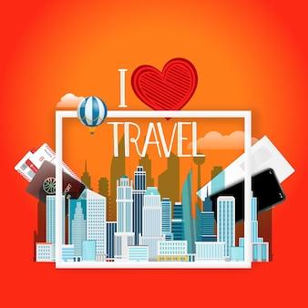 Amo viajar.