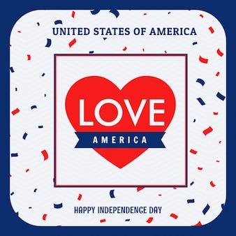 Amor américa ilustração do fundo