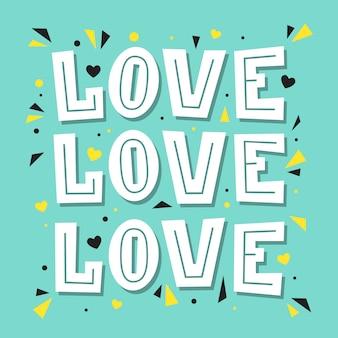 Amor amor amor. ilustração de letras